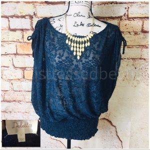 ANTHROPOLOGIE | LN/EUC | Floral Lace Blouse
